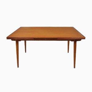 Tavolo da pranzo AT312 allungabile di Hans Wegner per Andreas Tuck, anni '50