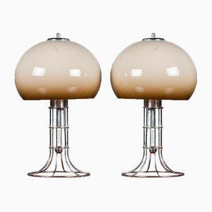Lámparas de mesa era espacial de Herda, años 70. Juego de 2