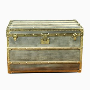Vintage Zinc Steamer Trunk from Louis Vuitton