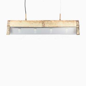 Lámpara de techo vintage de vidrio y aluminio