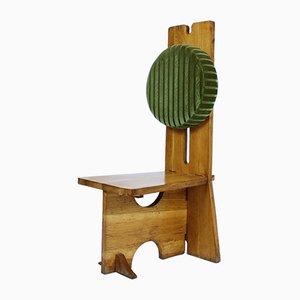 Handgefertigte ungarische Stühle mit hohen Rückenlehnen aus Eichenholz, 1970er, 2er Set
