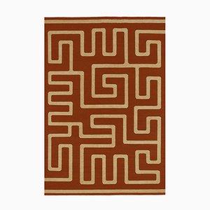 Durrie Ksoo RD de tejido plano de lana y yute de Kristiina Lassus