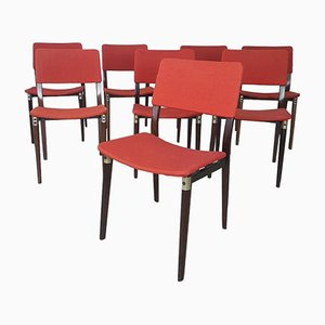 Mid-Century Chairs in Rosewood by Eugenio Gerli for Tecno, 1960s, Set of 8
