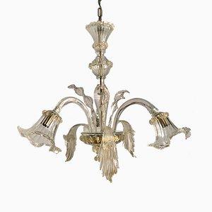 Lámpara de araña veneciana Mid-Century de cristal de Murano