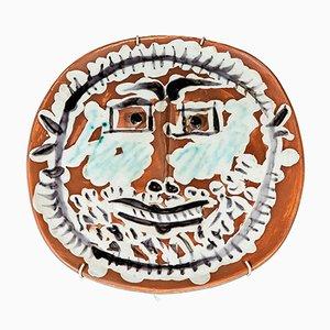 Visage avec Yeux Carrés en Céramique par Pablo Picasso pour Madoura, 1959