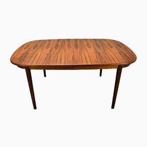 Mesa de comedor extensible danesa de palisandro de Arne Vodder para Sibast, años 50