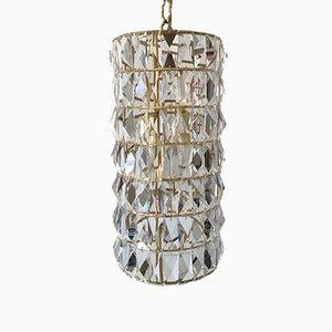 Lampada a sospensione in cristallo di Bakalowits & Sohne, anni '60