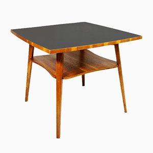 Deutscher Beistelltisch mit schwarzer Tischplatte, 1950er
