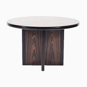Tavolo rotondo in ebano, anni '60
