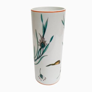 Knoblauch Limoges Porcelain Vase by Robert Piotet, 1960s