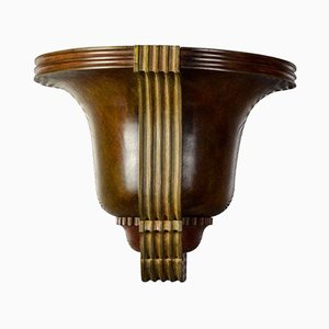 Bronze Sconce by Jean Pascaud, 1930s
