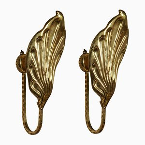 Leaf Sconces by Tommaso Barbi, 1970s, Set of 2