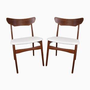 Dänische Teak Esszimmerstühle von Schiønning & Elgaard für Randers Møbelfabrik, 1960er, 2er Set