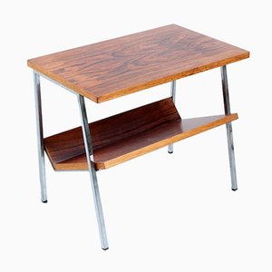 Rosewood & Chrome Magazine Rack/Side Table from Stiemsma, 1960s