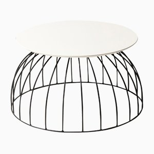 Washington Fenix Bianco NTM Side Table by Alessio Elli for Elli Design