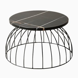 Table d'Appoint Washington Sahara Noir en Marbre par Alessio Elli pour Elli Design