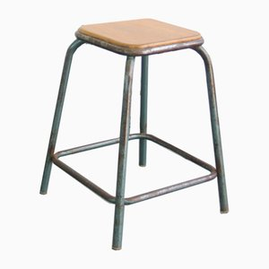French Industrial Stool, 1950s