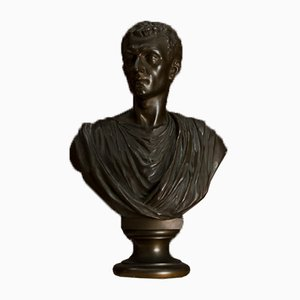 Antique Italian Bronze Roman Bust