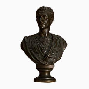Buste Romain Antique en Bronze, Italie