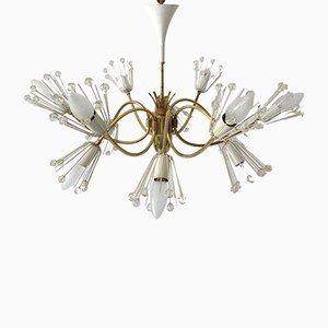 Austrian 12-Armed Chandelier by Emil Stejnar for Rupert Nikoll, 1950s