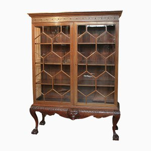 Antique Mahogany & Glass Cabinet