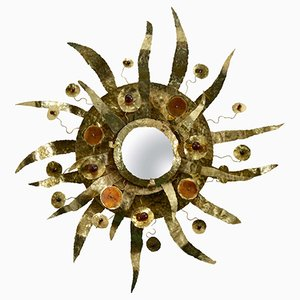 Sunburst Mirror by Enzo Missoni, 1970s