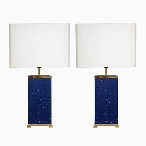 Blue Stone Lamps by Enzo Missoni, 1970s, Set of 2