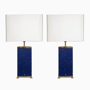 Lampen aus blauem Stein von Enzo Missoni, 1970er, 2er Set