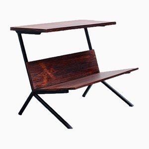 Mesa auxiliar o revistero de palisandro de Stiemsma, años 60