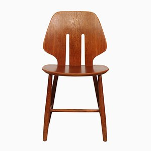 Model J 67 Oak Chair by Ejvind A Johansson for FDB, 1950s