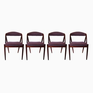 31 Dining Chairs by Kai Kristiansen for Schou Andersen, 1960s, Set of 4