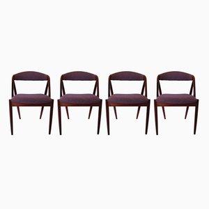 31 Esszimmerstühle von Kai Kristiansen für Schou Andersen, 1960er, 4er Set