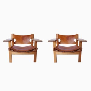 BM2226 Spanish Chairs by Børge Mogensen, 1960s, Set of 2