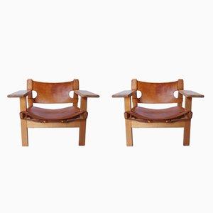 BM2226 Spanish Chairs by Børge Mogensen, 1960s, Set of 2