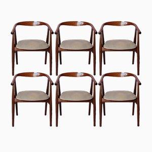 Chaises de Salle à Manger GE525 par Hans J. Wegner pour Getama, 1960s, Set de 6