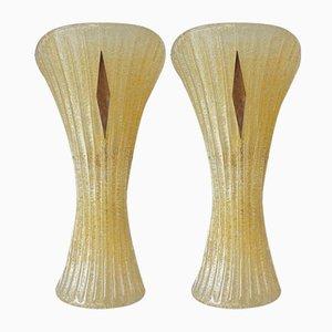 Murano Glas Wandlampen von Veronese, 1970er, 2er Set
