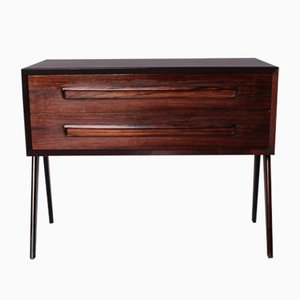 Small Danish Rosewood Chest with Two Drawers, 1960s