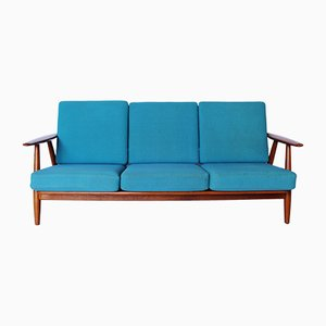 GE240/3 The Cigar 3-Seater Sofa by Hans J. Wegner for Getama, 1960s