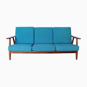 GE240/3 The Cigar 3-Sitzer Sofa von Hans J. Wegner für Getama, 1960er