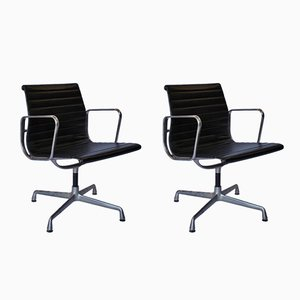 EA 107 Aluminum Group Office Chairs by Charles & Ray Eames for Vitra, 1970s, Set of 2