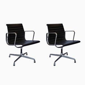 Sedie da ufficio EA107 in alluminio di Charles & Ray Eames per Vitra, anni '70, set di 2