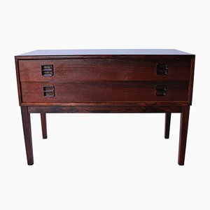 Small Danish Dresser with Two Drawers in Rosewood, 1960s