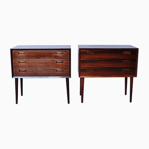 Danish Bedside Tables in Rosewood, 1960s, Set of 2