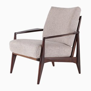 Skandinavischer Sessel mit Kompassfüßen, 1960er