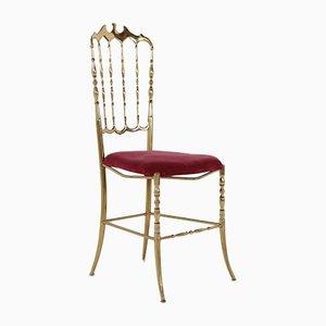 Italian Brass Side Chair, 1960s