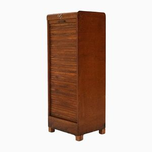 Filing Cabinet with Tambour Door, 1920s