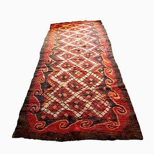 Alfombra uzbeka antigua grande de pelo de camello