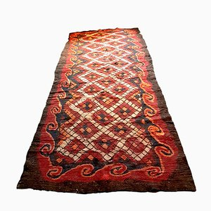 Large Antique Uzbek Camel Hair Rug