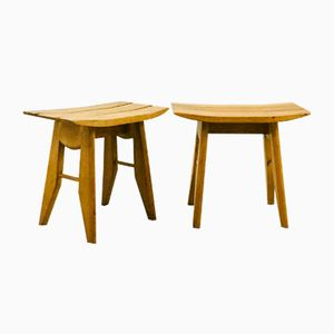 Stools by Guillerme et Chambron for Votre Maison, 1960s, Set of 2