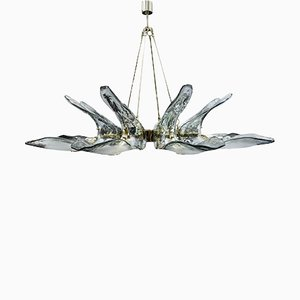 Lámpara de araña de cristal de Murano, años 80